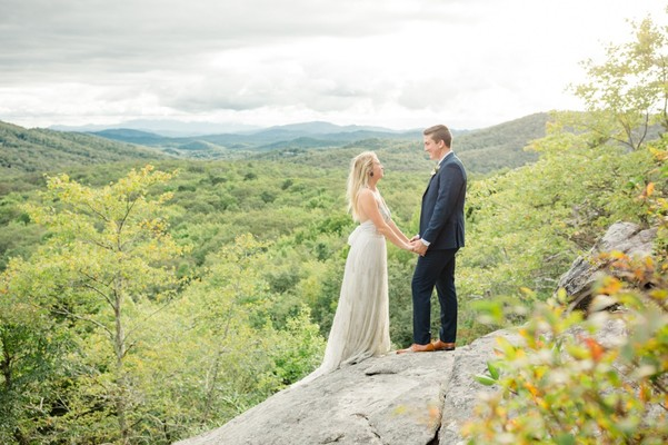 Let Your Heart Be Free With This Intimate Mountain Top Wedding