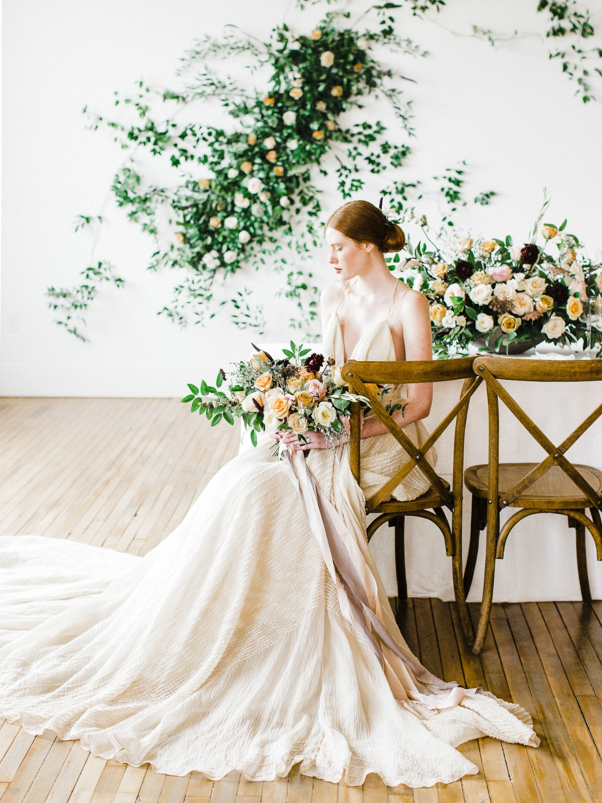 romantic minimalist style wedding idea