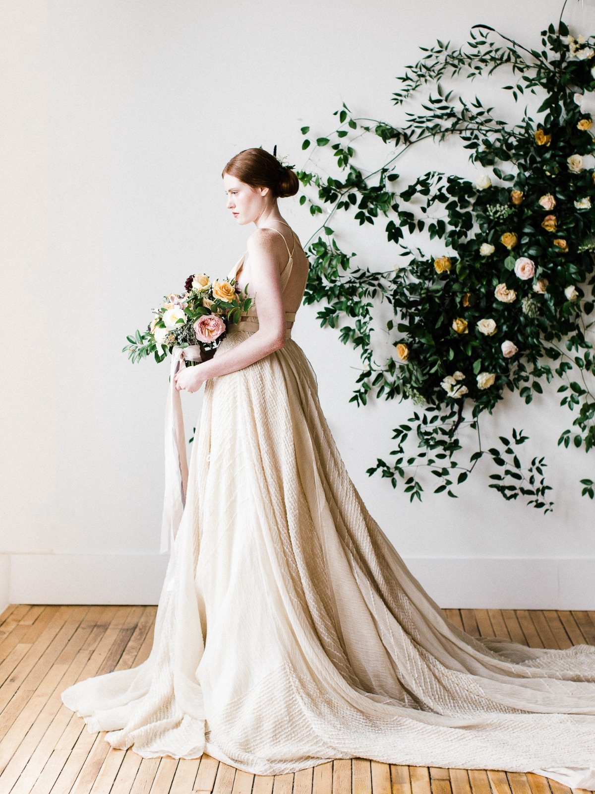 vintage inspired wedding dress by Carol Hannah