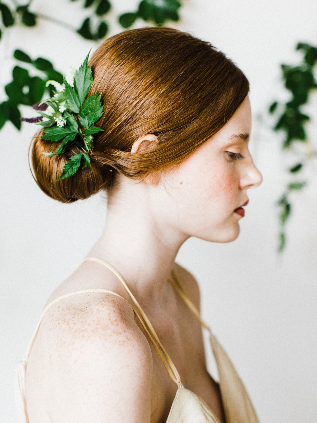clean and classic wedding hair idea