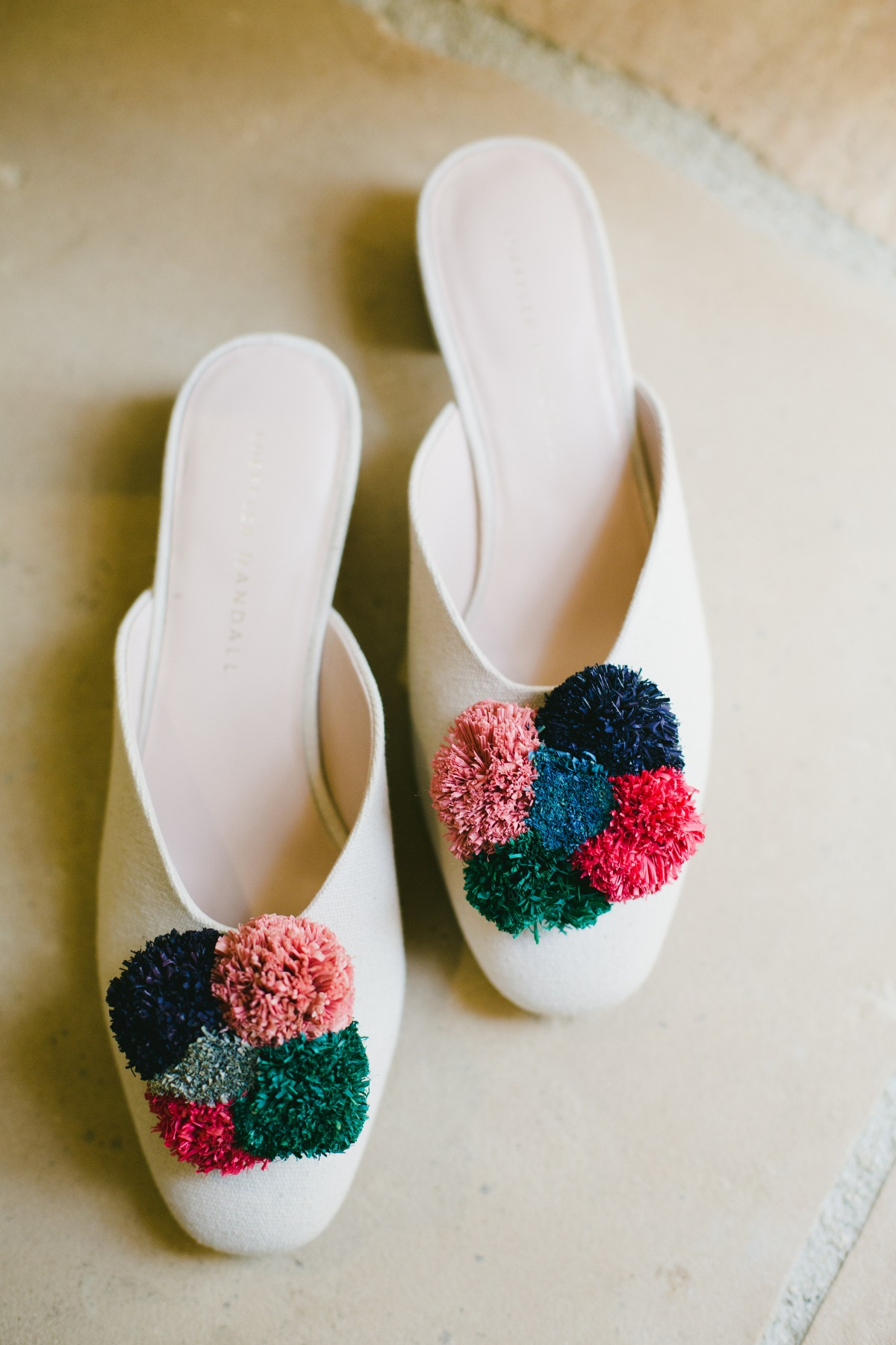 Colorful bridal shoes by Loeffler Randall