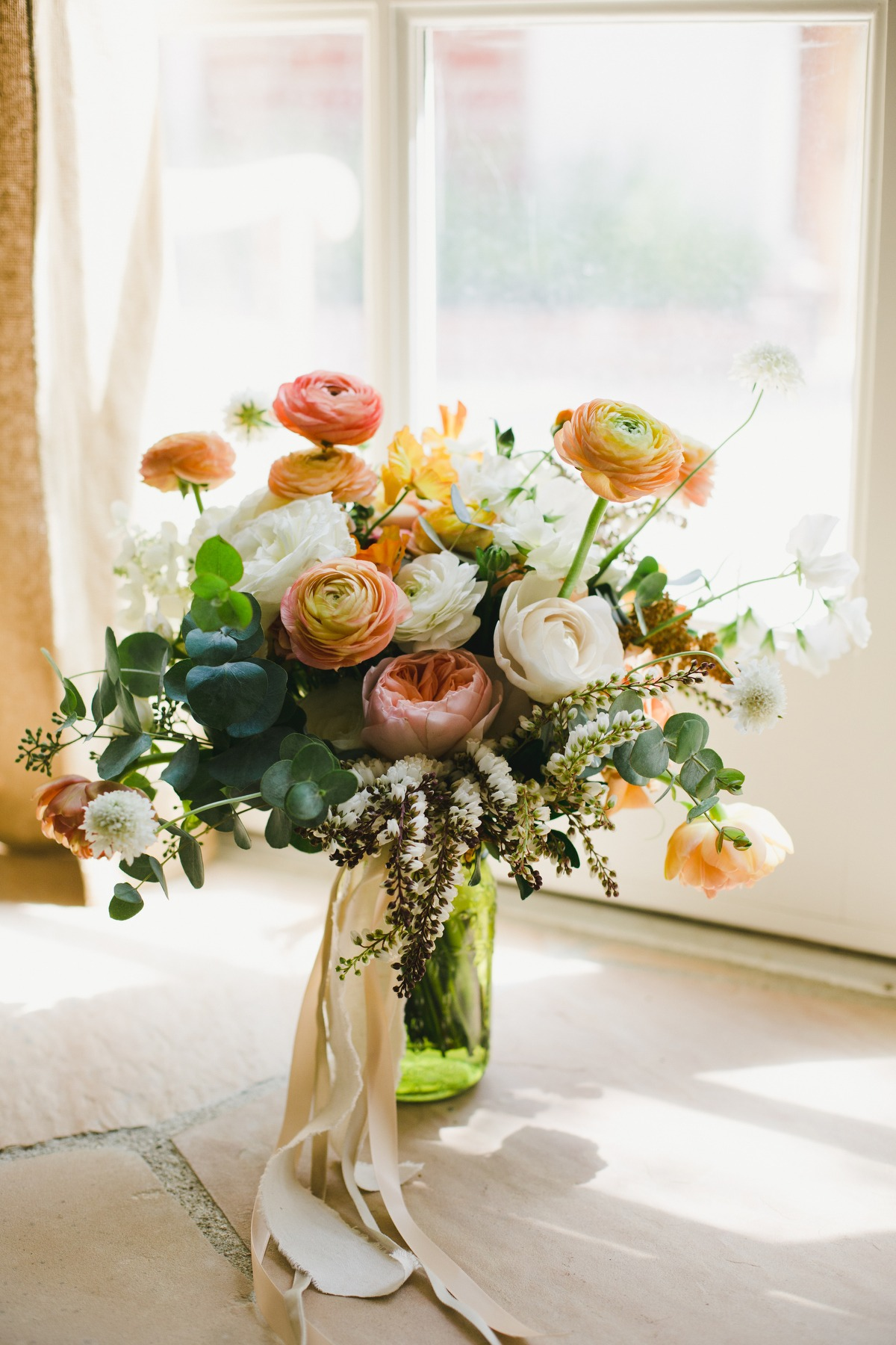 Fresh floral wedding bouquet