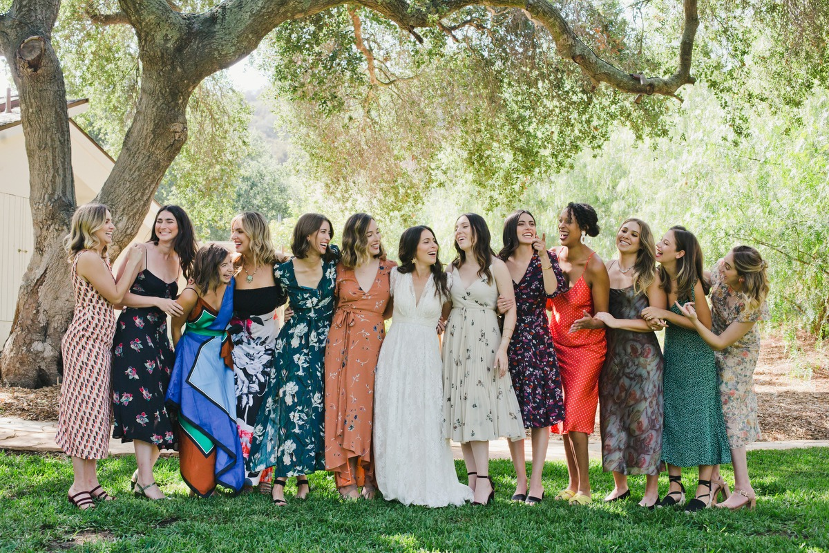Let your bridesmaids wear what they want