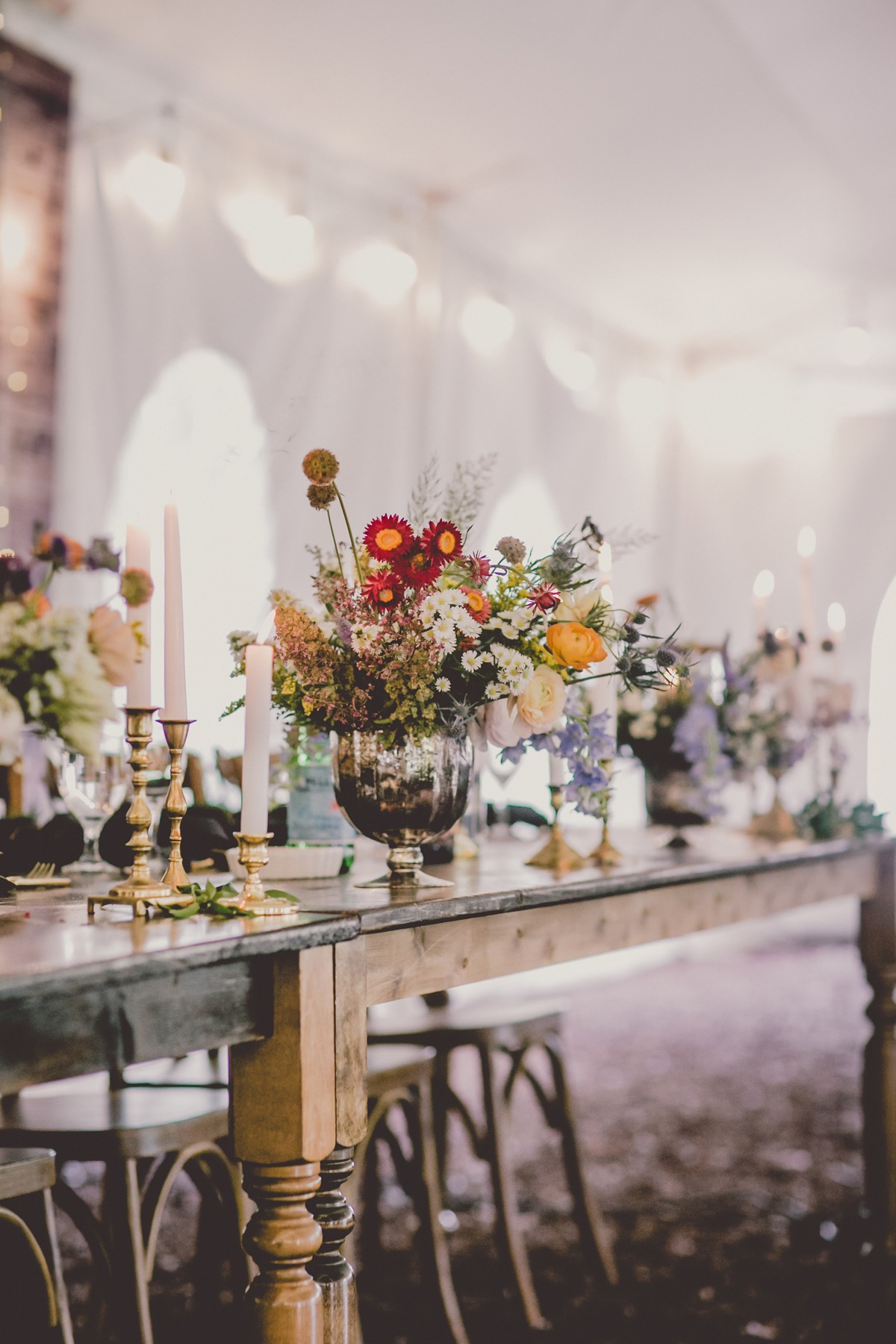 wildflower inspired wedding decor