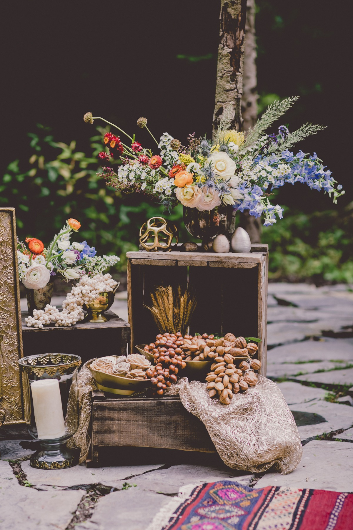 natural inspired wedding decor