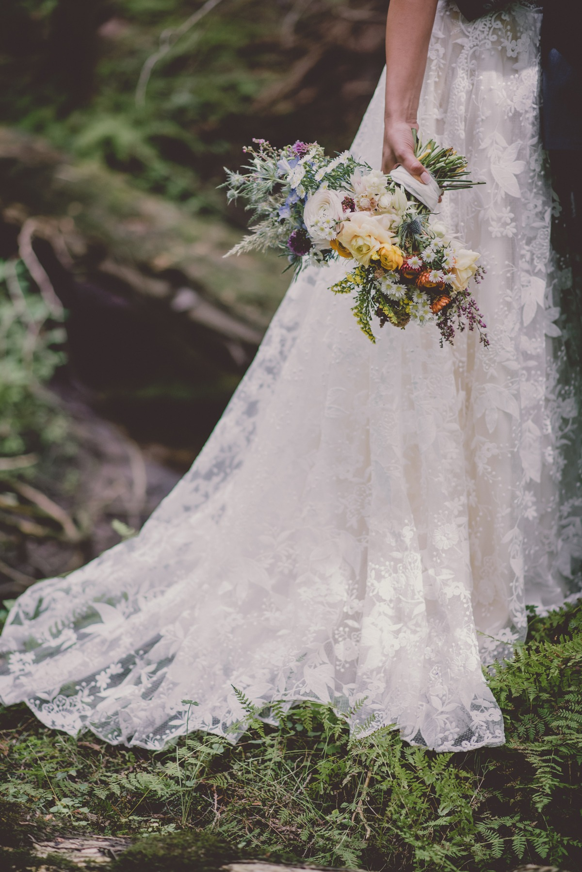 romantic lacy wedding skirt by Abigail of Gardenia