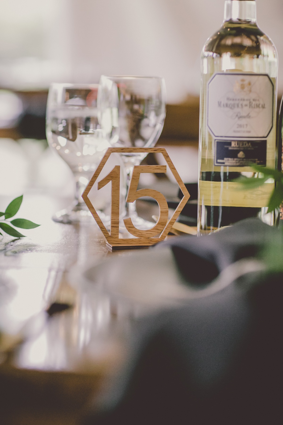 modern wedding table number