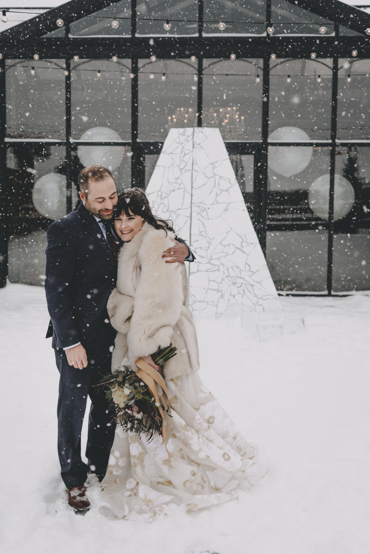 sweet snow day wedding ideas