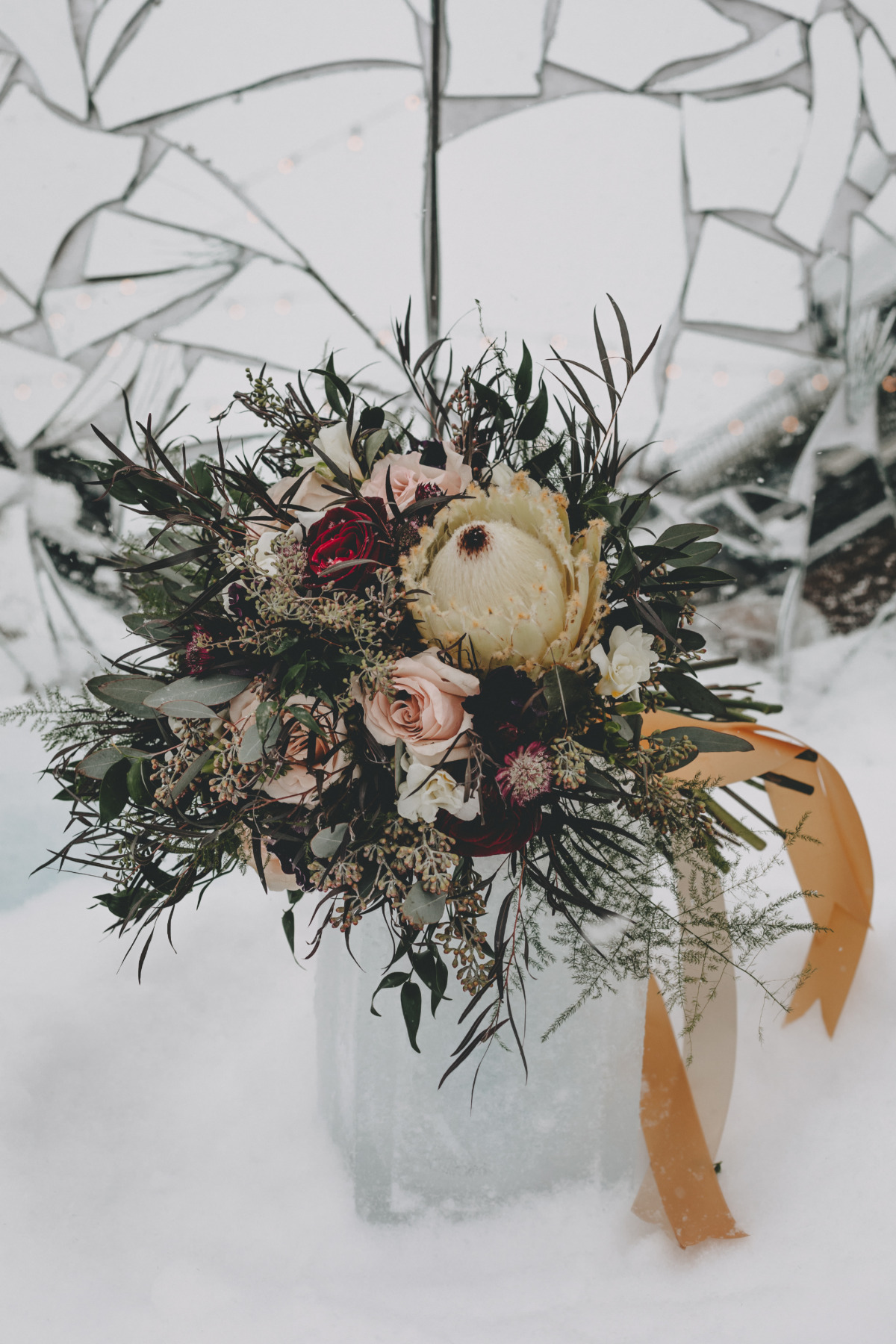 wintertime wedding bouquet