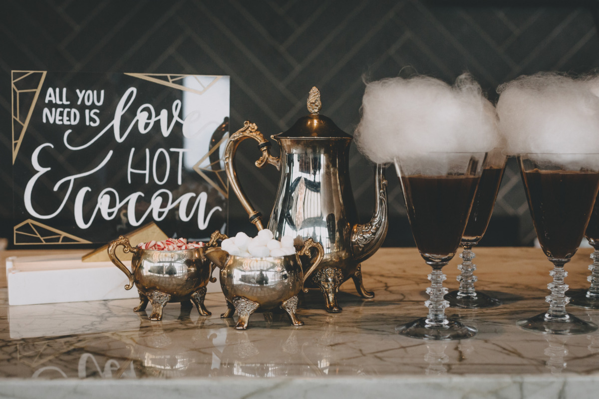 warm up your guests with a hot cocoa bar