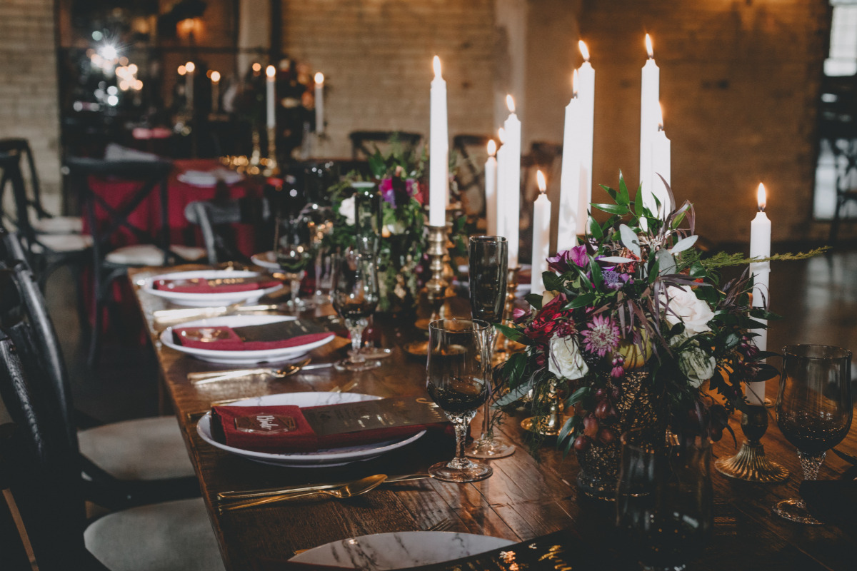 winter time wedding decor