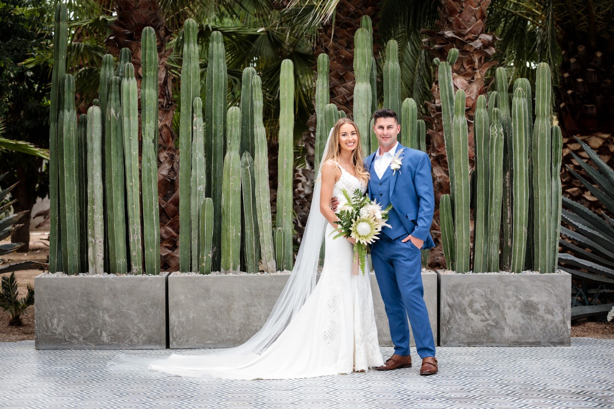 White wedding in Cabo San Lucas