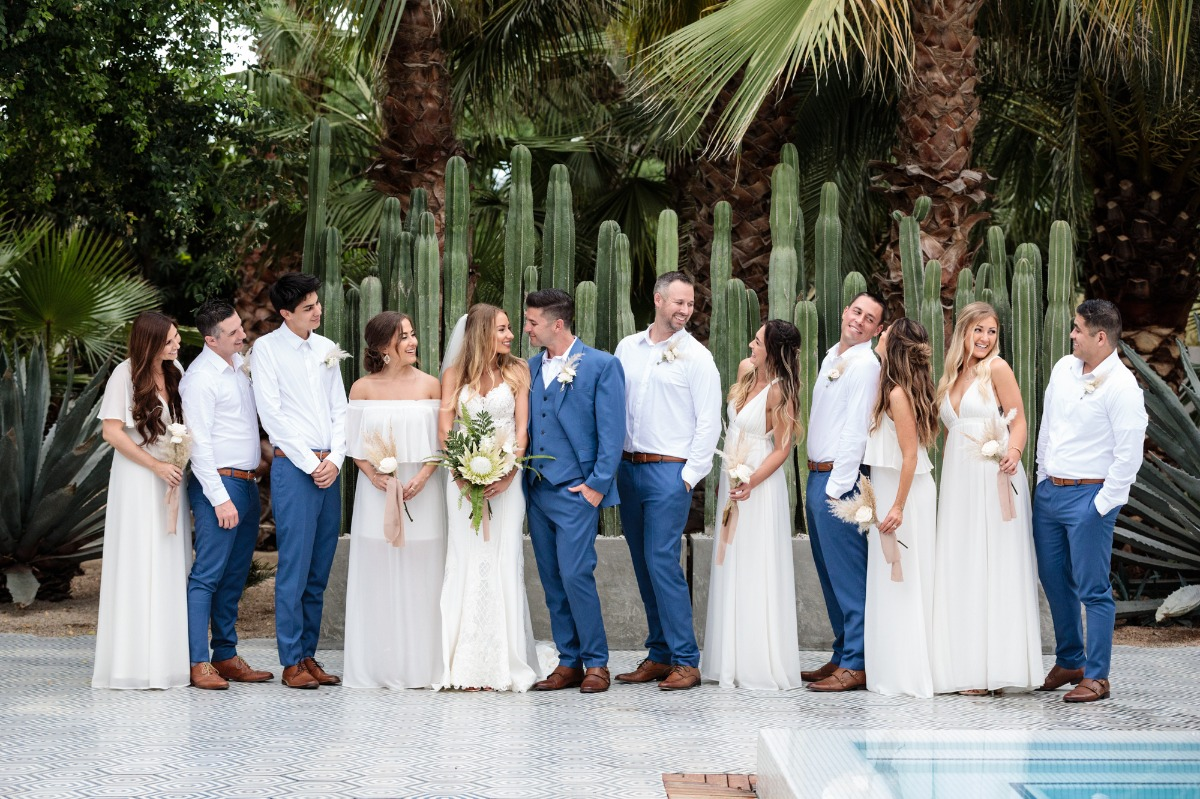 Cabo San Lucas wedding party