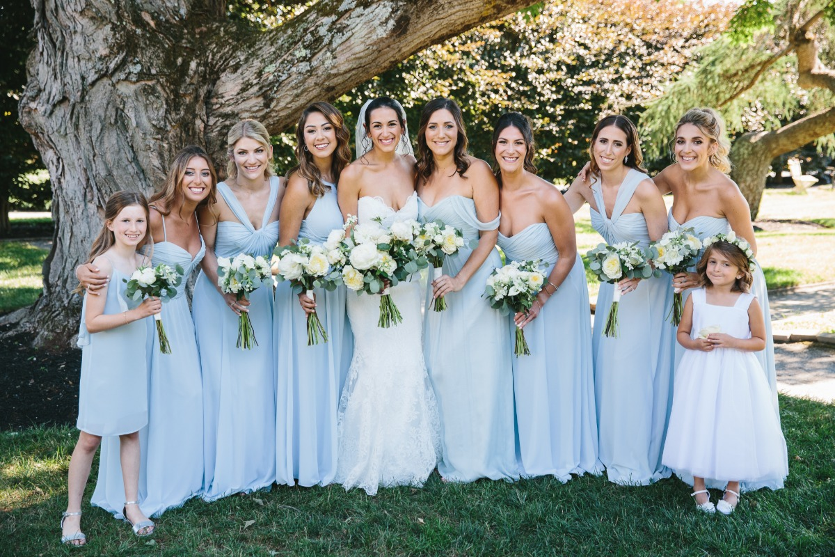 sky blue bridal party