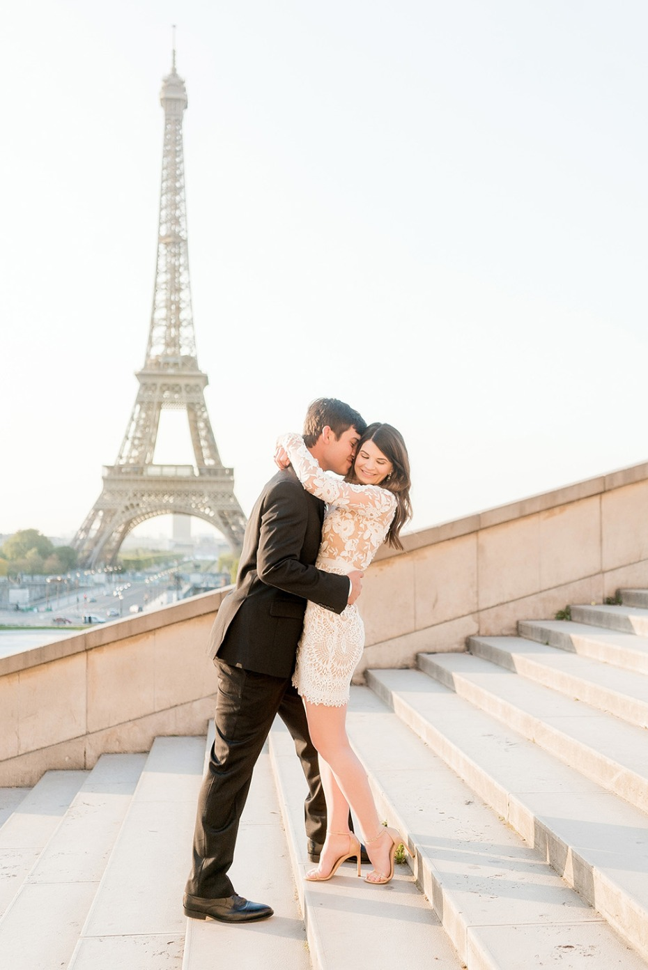Paris Eiffel Tower Honeymoon Portrait
