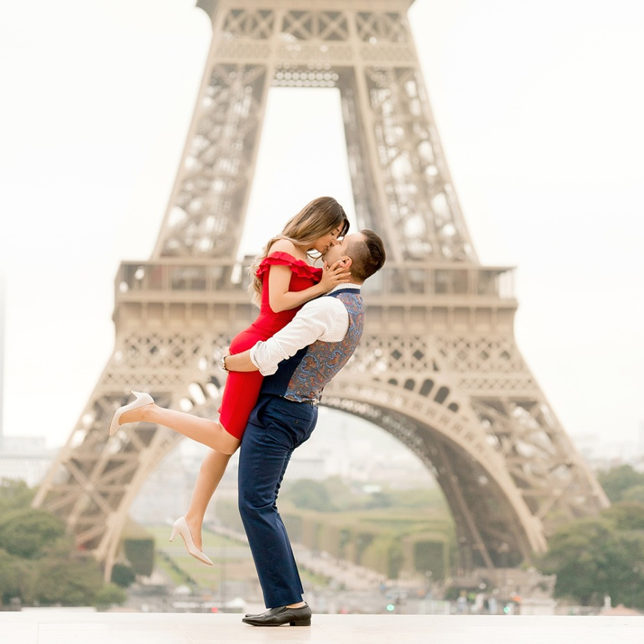 Paris Eiffel Tower Love Portrait