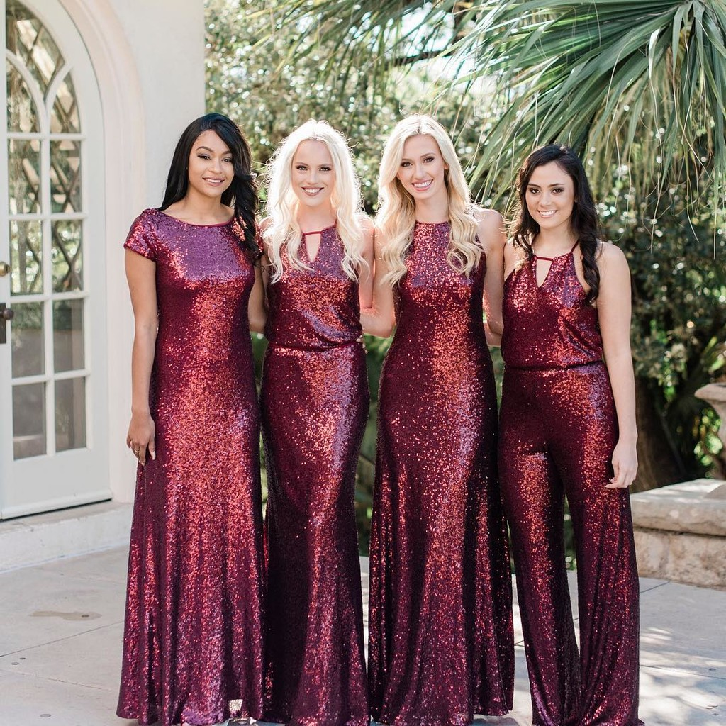 Cabernet gowns are a glistening.❤️ #ShopRevelry
