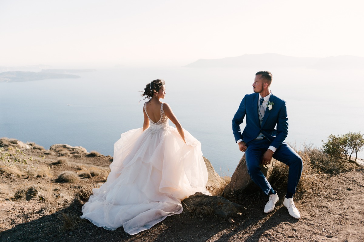 Gorgeous wedding in Santorini
