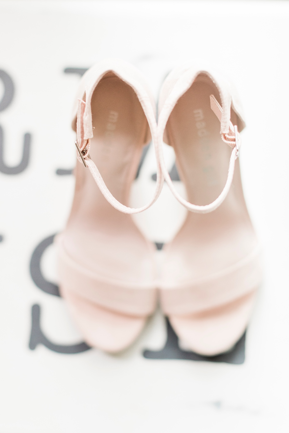 soft pink wedding shoes