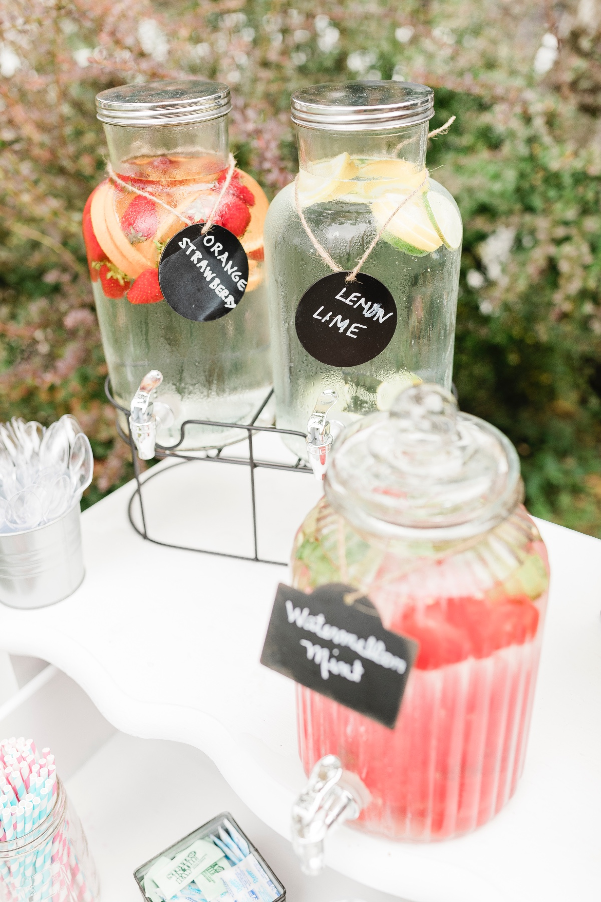 wedding water bar