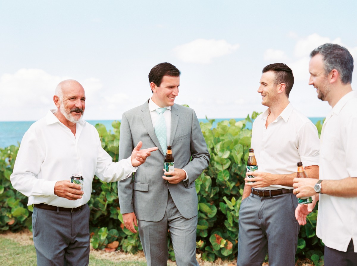 groom and his men chilling