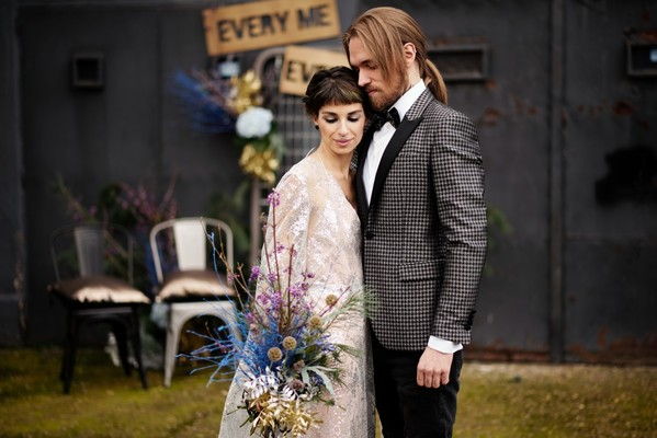 An Edgy Modern Wedding Inspiration for the Fearless Couple