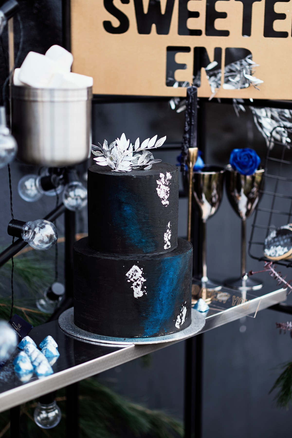 Edgy wedding cake