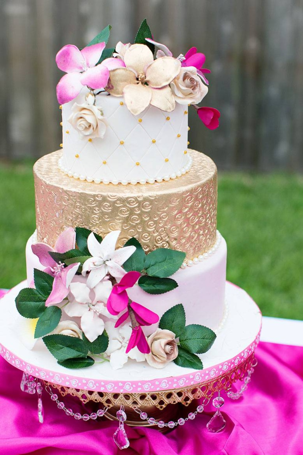 Wedding Cake Stands created with love by Opulent Treasures// Cake by Cake Dreams Bakery