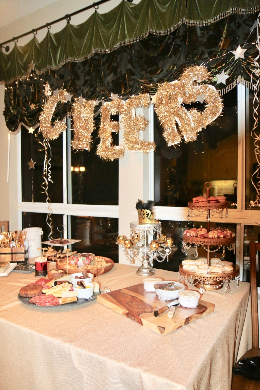 Cheers to the NEW YEARS! Chandelier Dessert Stands created by Opulent Treasures for all your dessert table needs!