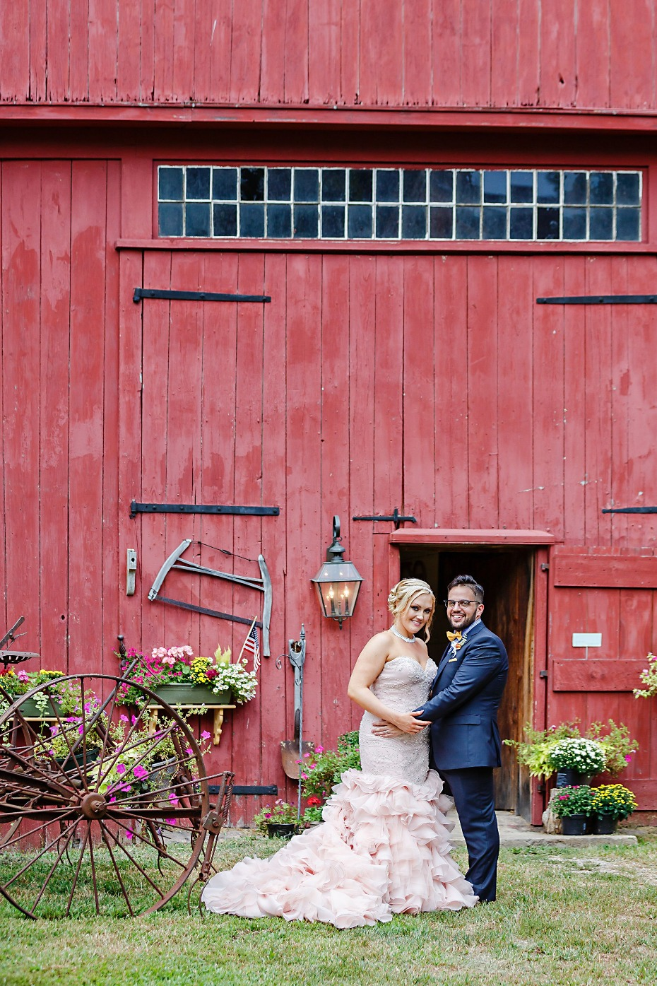 pink-wedding-dress-nh-barn-backyard-wedding