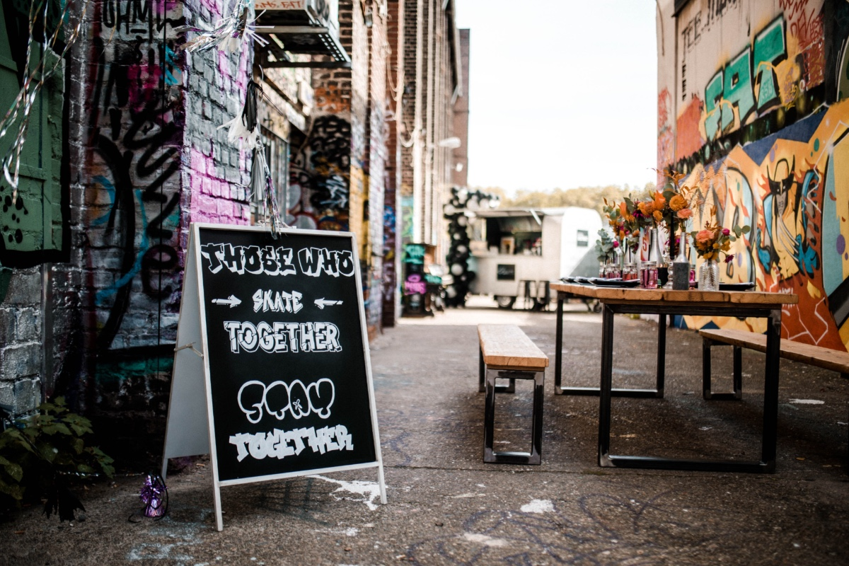 skateboard & graffiti wedding ideas