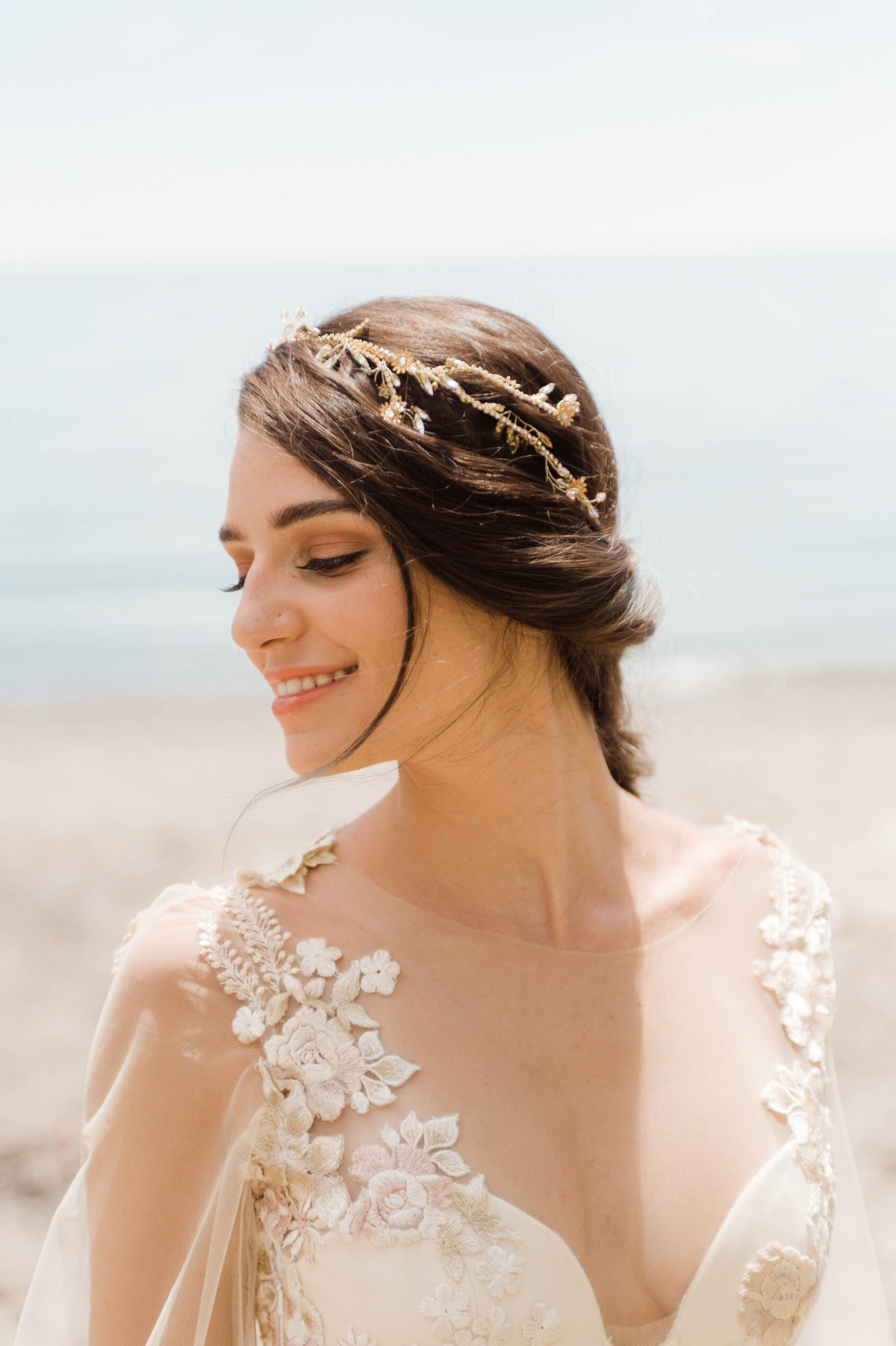 ethereal wedding dress and accessories