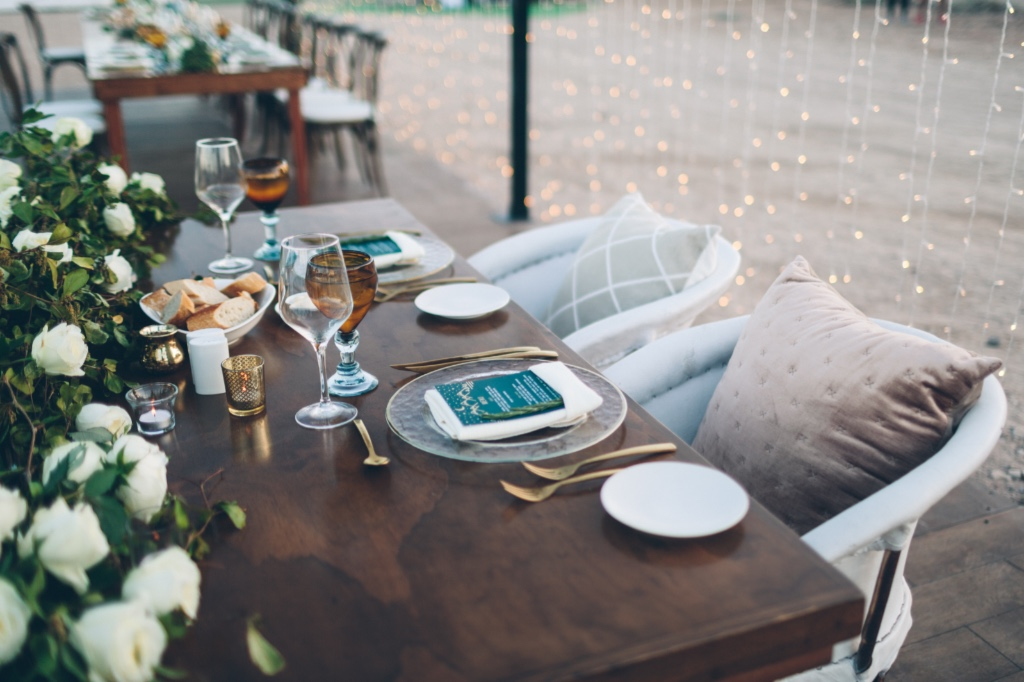 Twinkle tent for a romantic dinner at Cabo Pulmo, Mexico