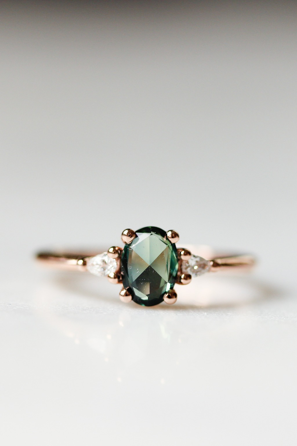 A showstopping dark green sapphire for the wild at heart.