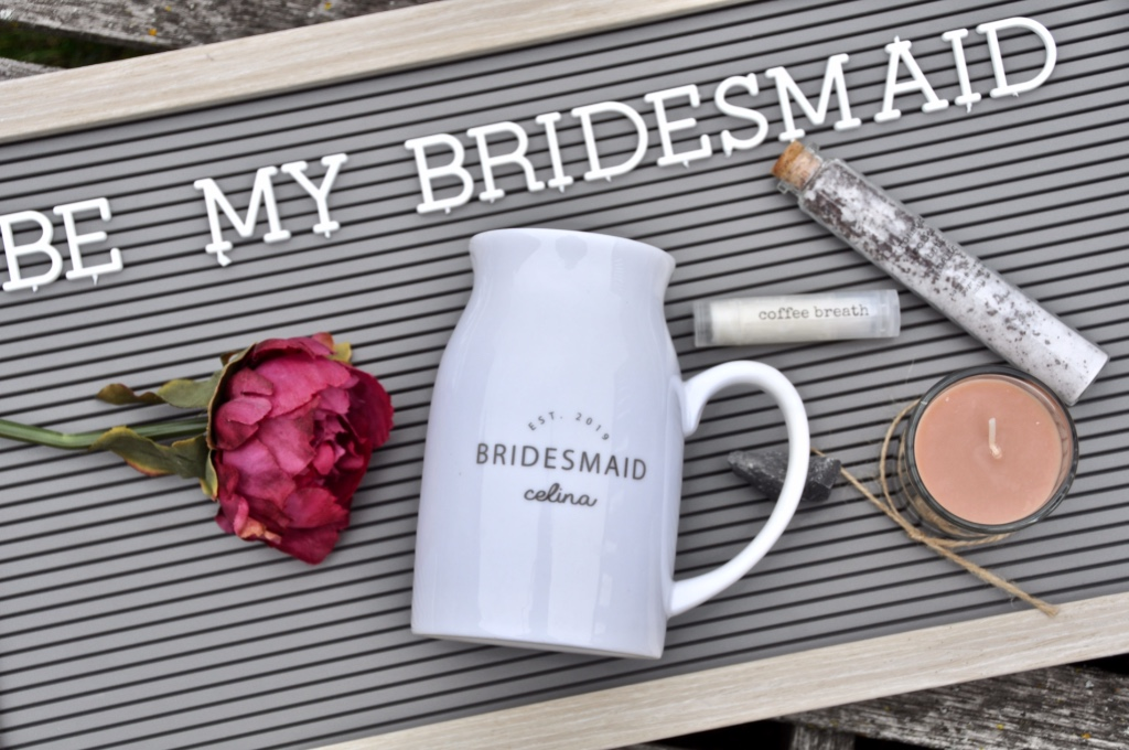 Customized and personalized bridesmaid and maid of honour gifts that will make her feel like she is a special part of your wedding