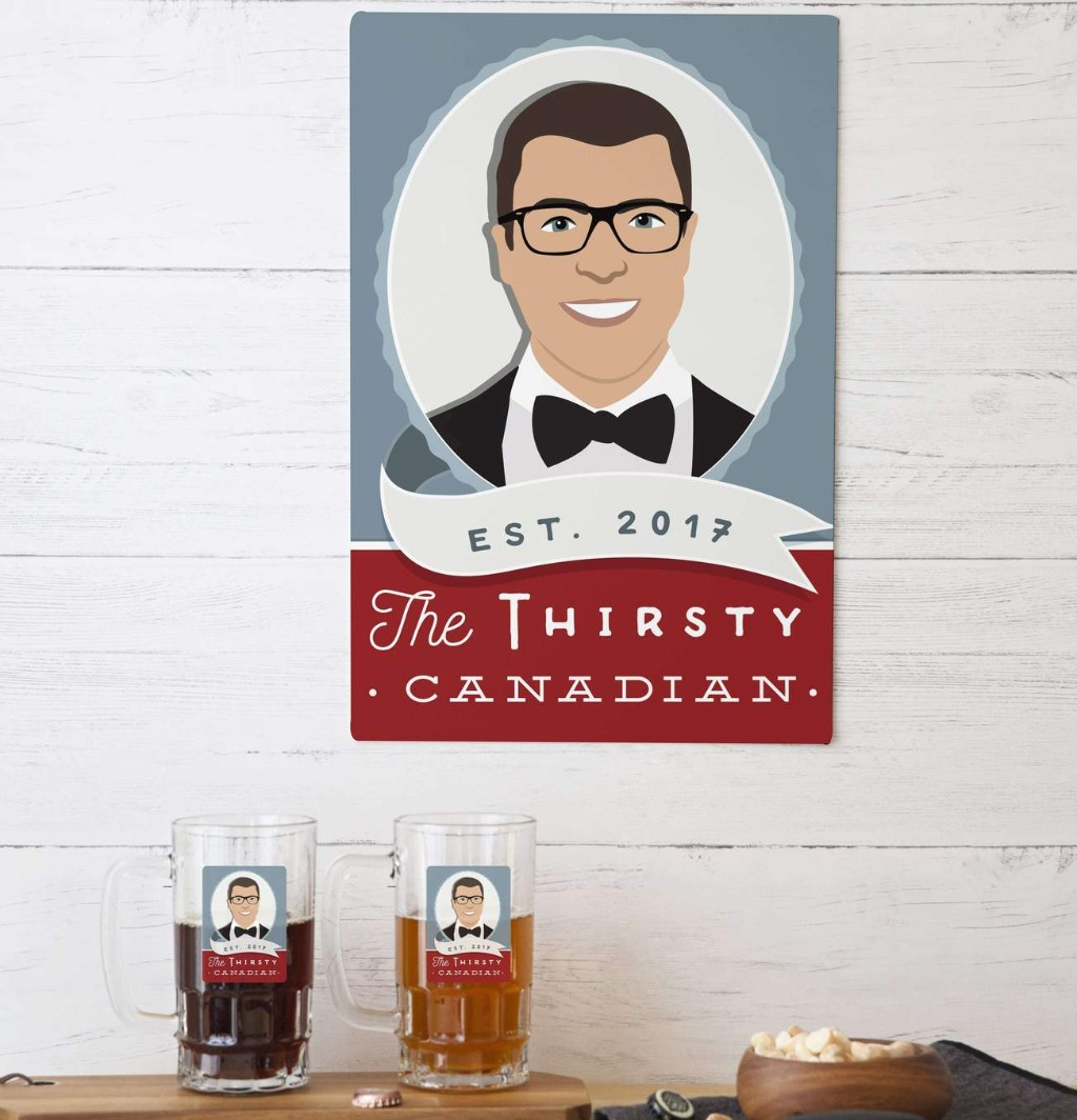 We love a good groomsman's gift, and what better way to thank your buddy than with a custom bar sign?? This Custom Portrait Aluminum