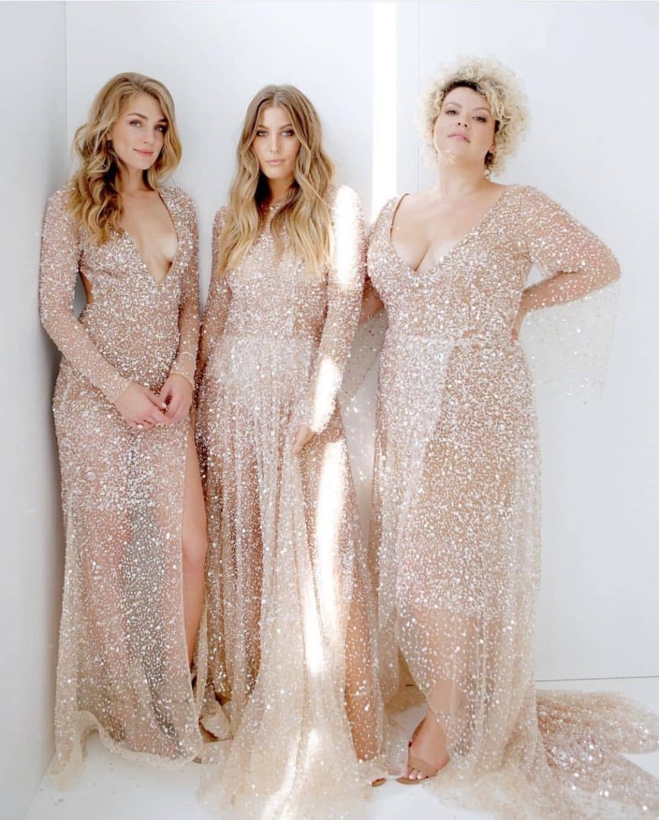 Gold Glitter Gowns by One Day Bridal