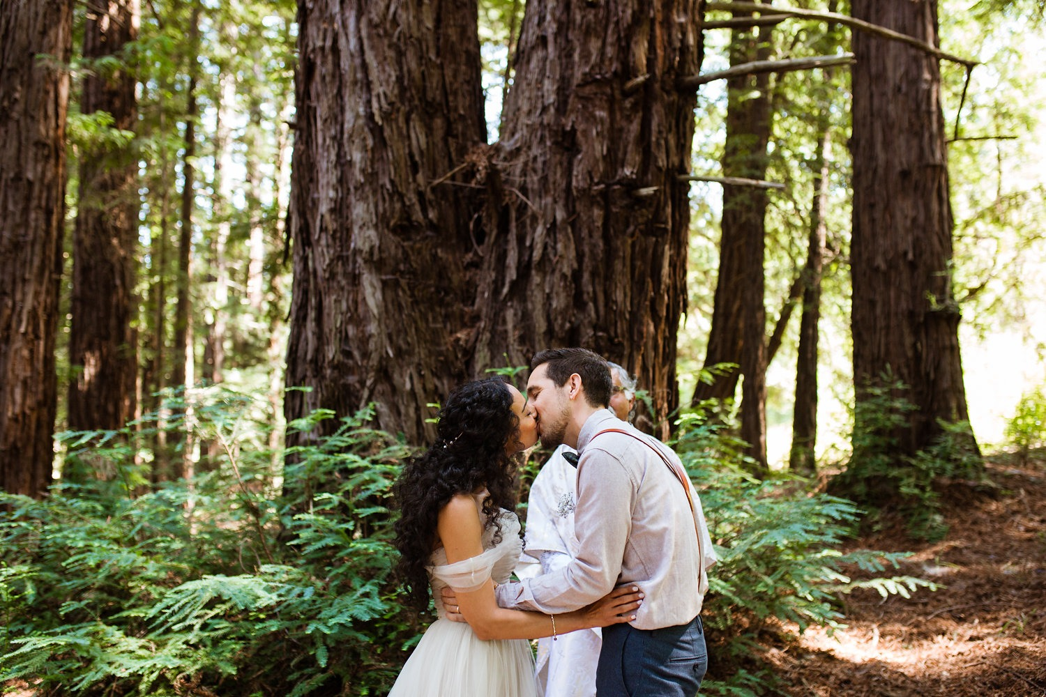 Just married in the redwoods
