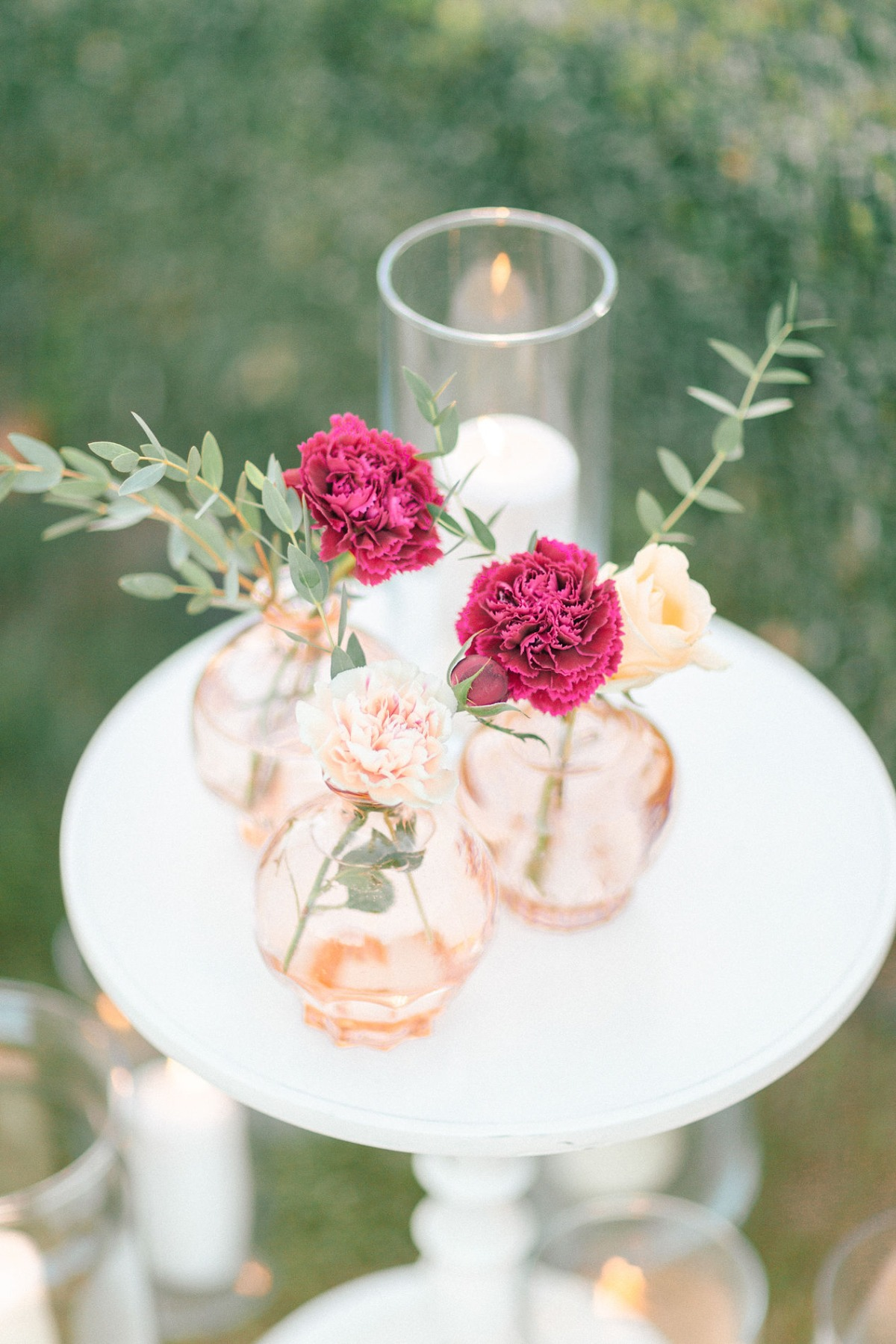 rose gold bud vase floral decor