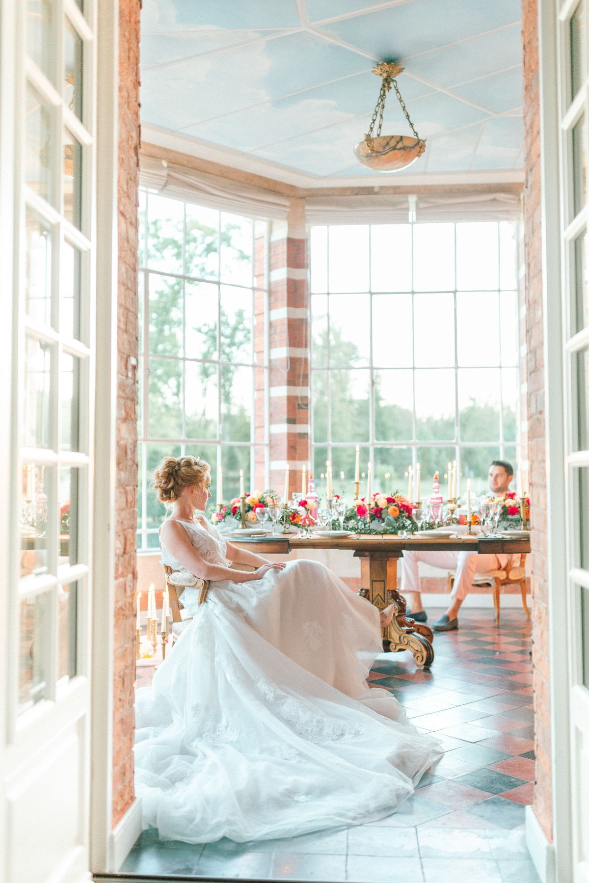 intimate wedding table idea for two