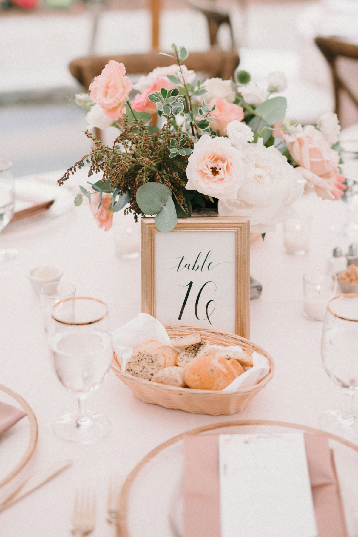 Blush wedding reception table