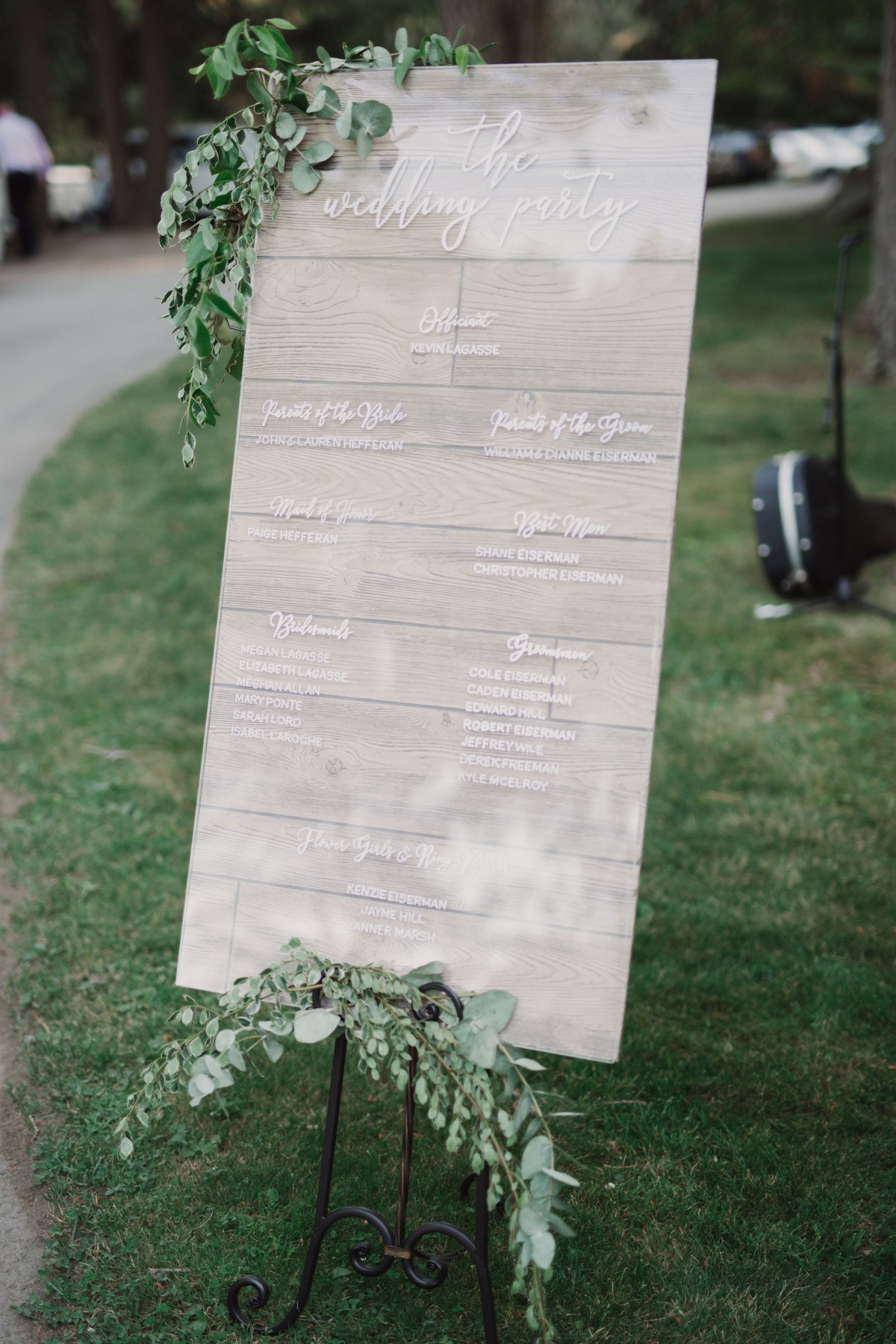 wedding party sign design