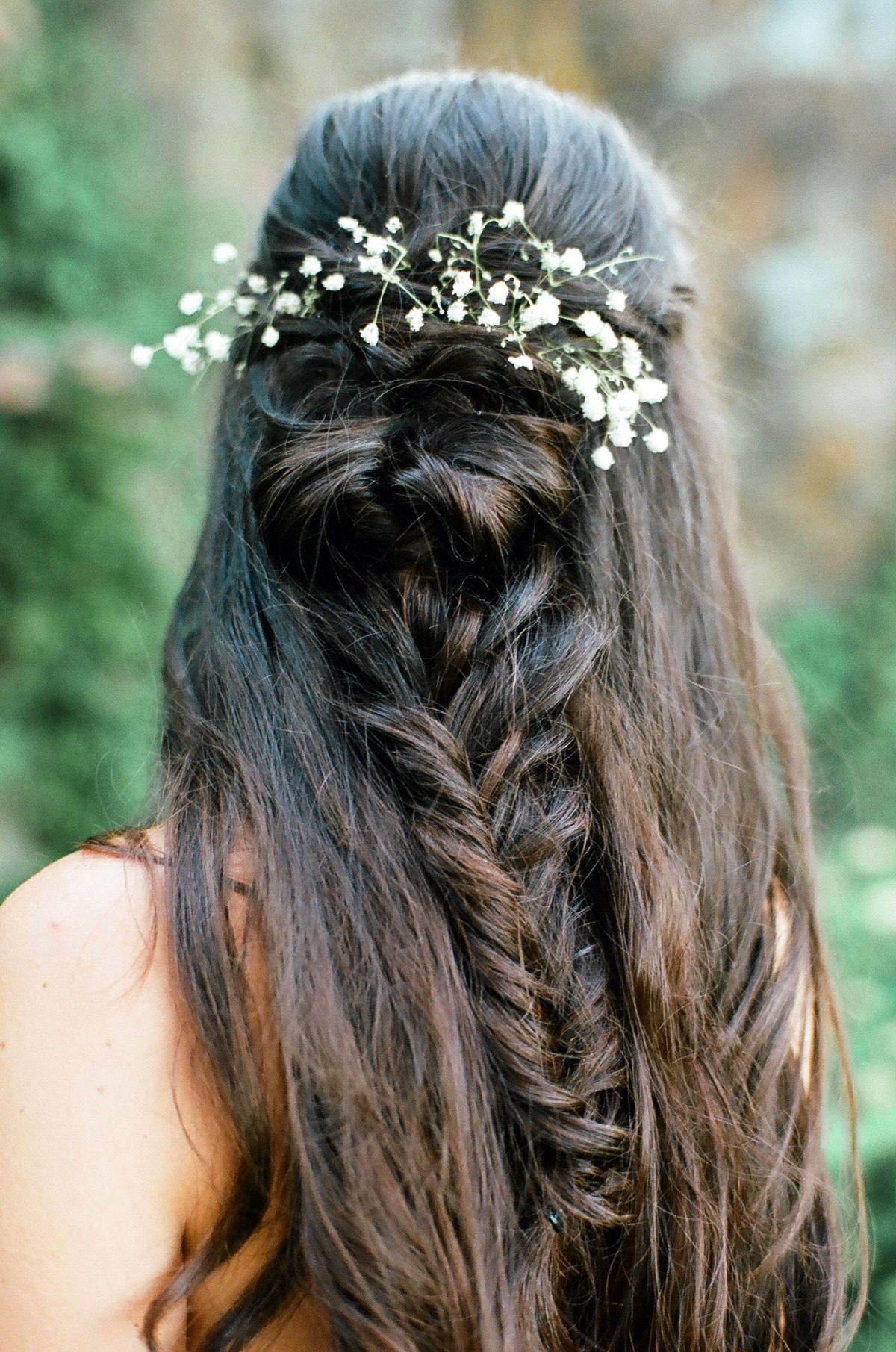 Bridal hair in braid