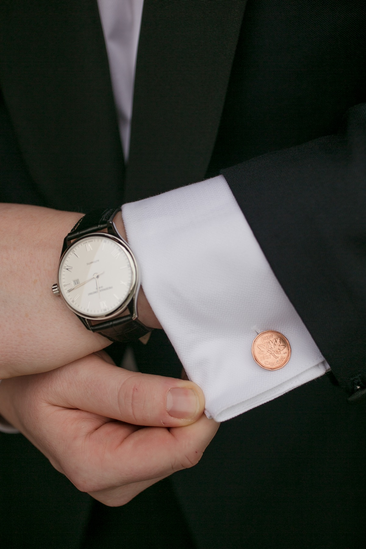 copper penny cufflinks