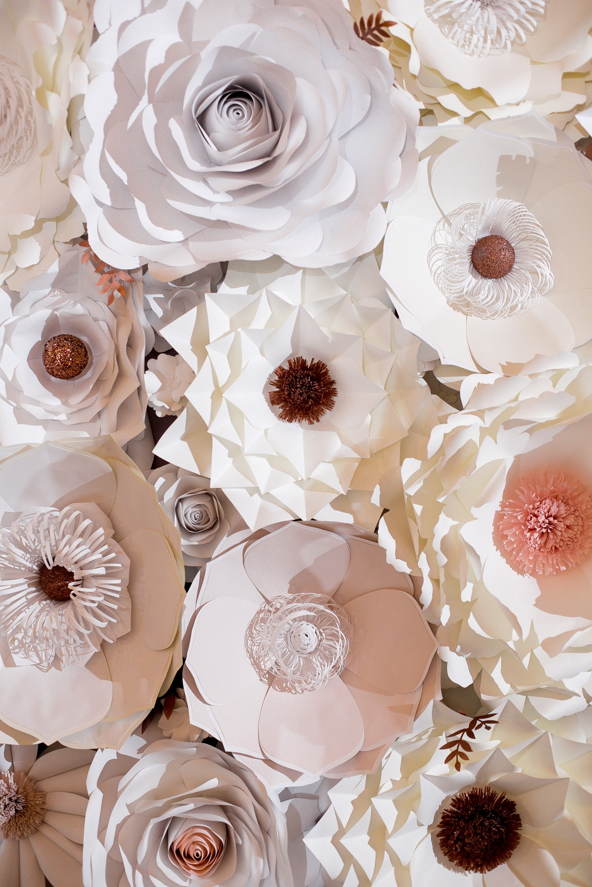 giant paper flower backdrop