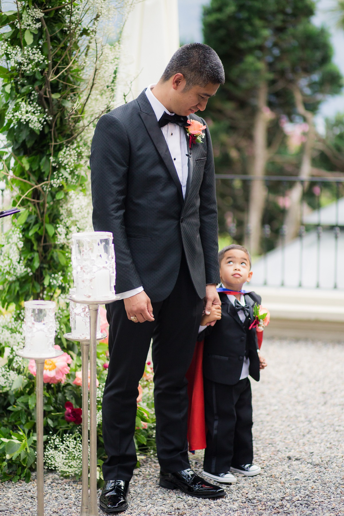 Groom and his son