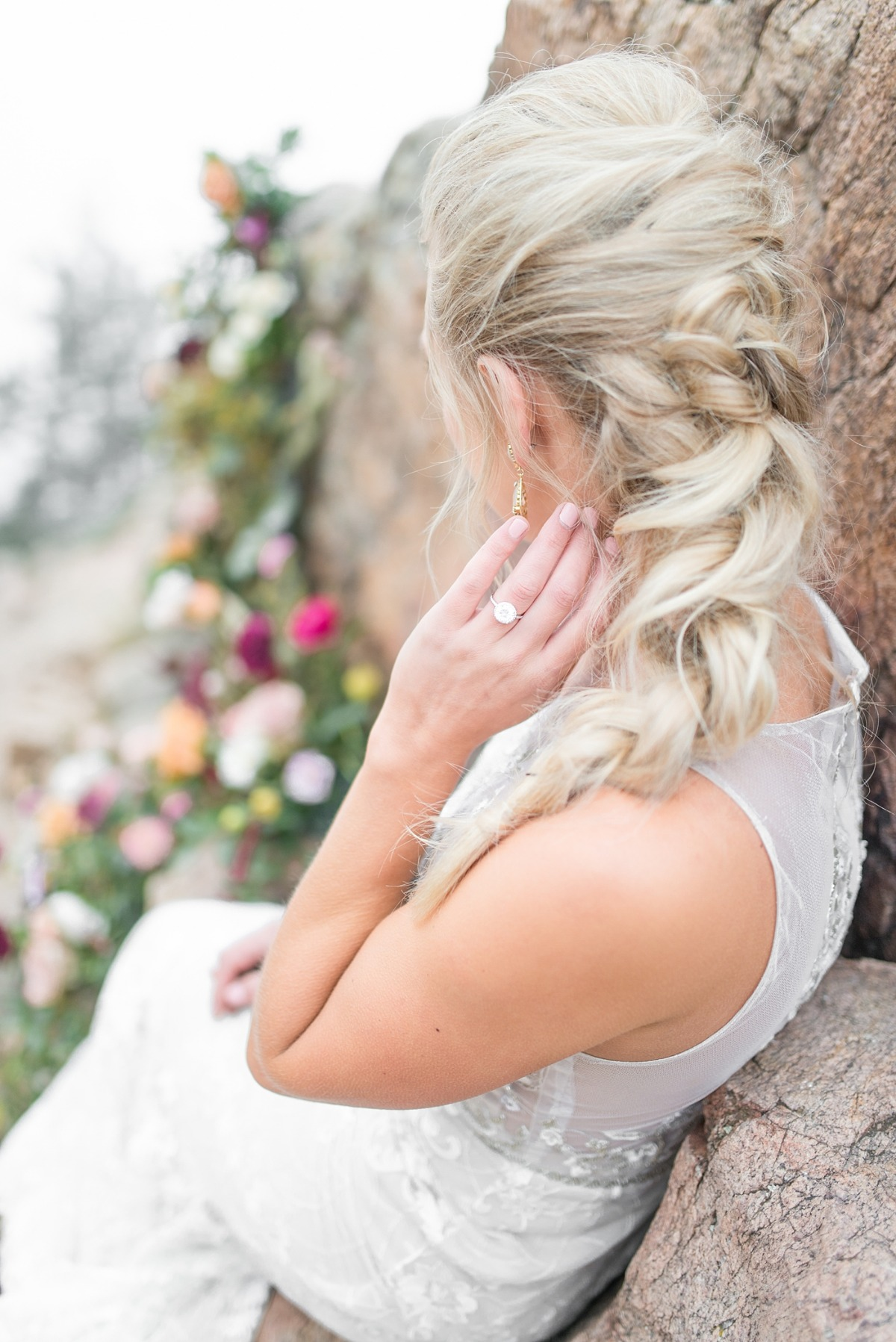Braided bridal hair