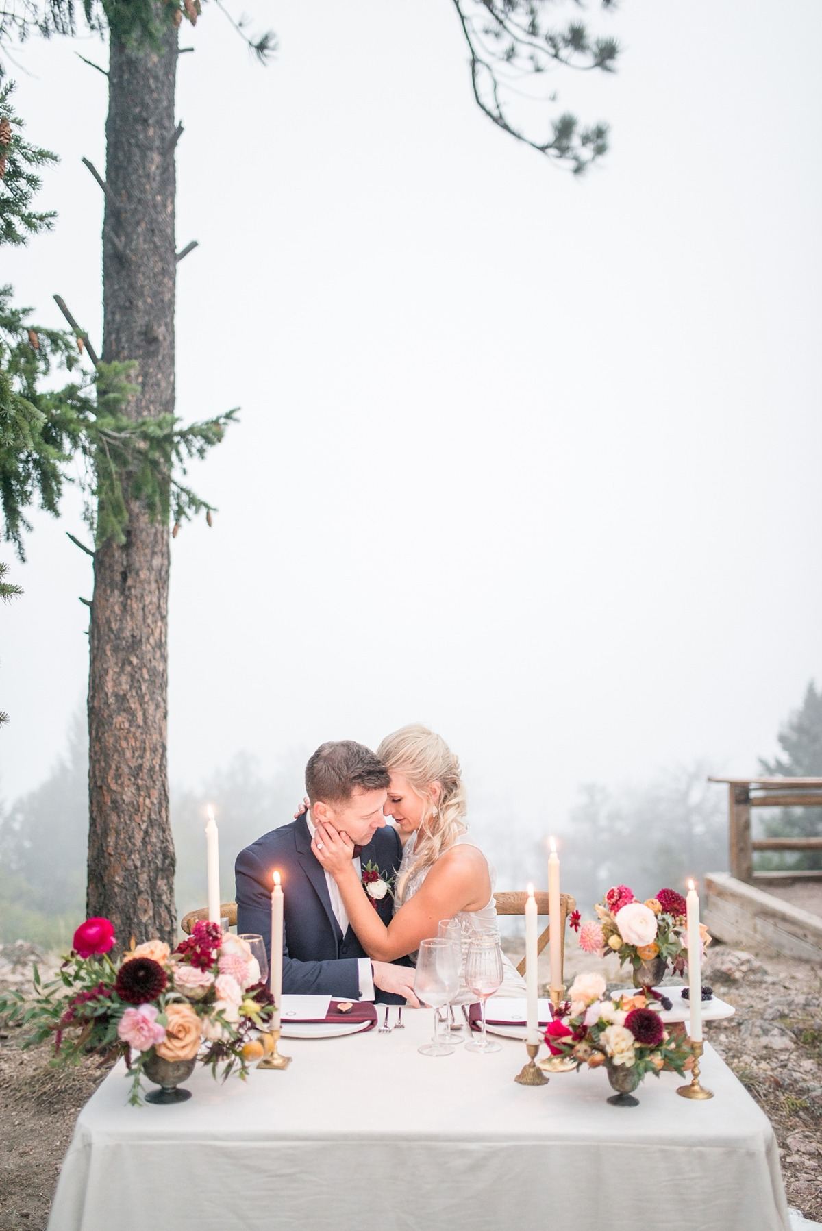 Misty mountain wedding inspiration