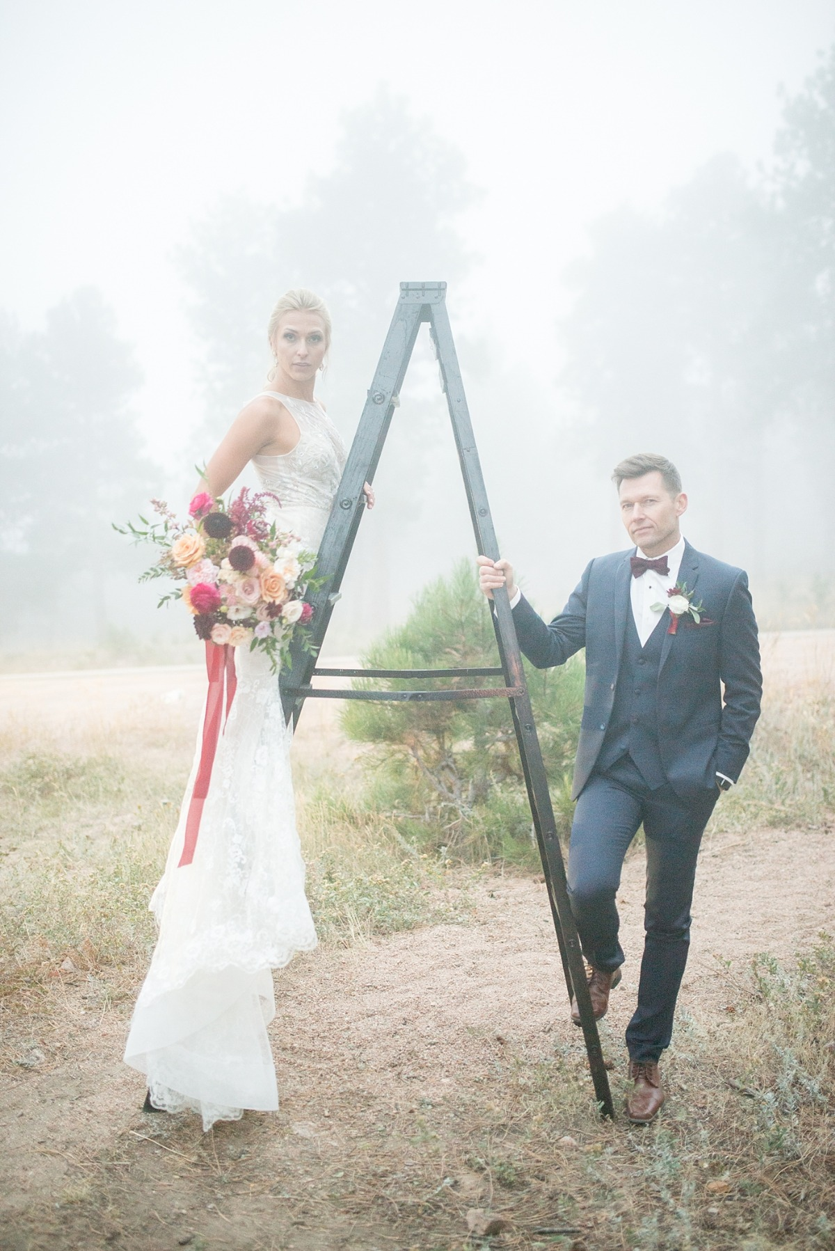 Misty Wedding Inspiration in the Mountains