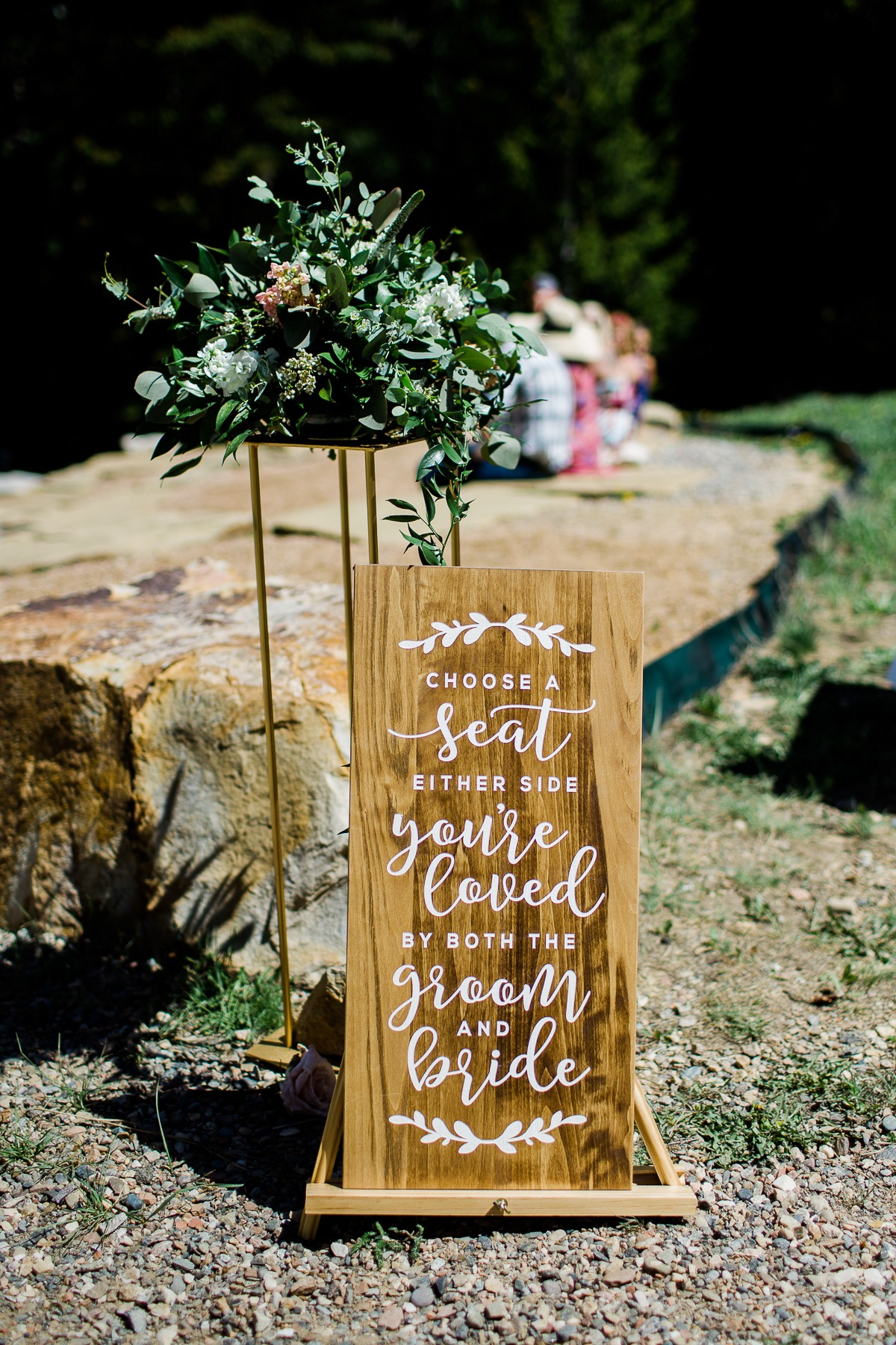 Ceremony seating sign